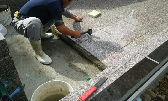石張り工事 s家 宜野湾市