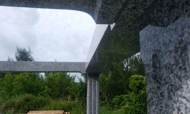 墓石工事3 t家 沖縄県中北部