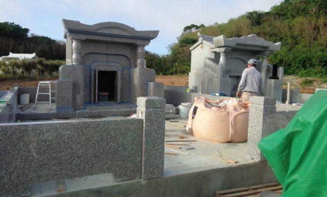 墓石工事2 s家 伊江島
