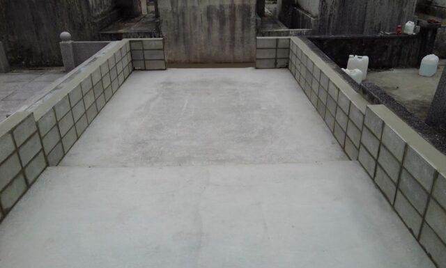 ブロック積み(塀)工事 k家 大里