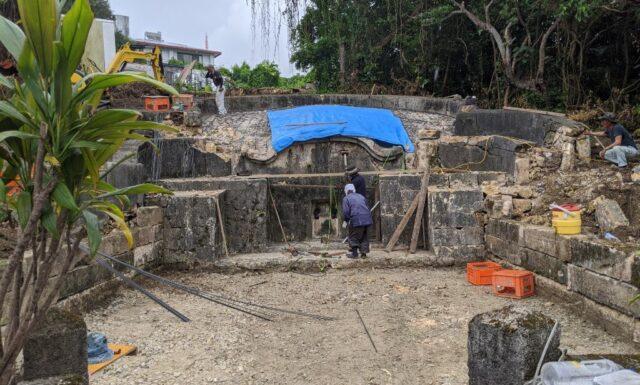 門中墓の改修工事③ S門中墓 豊見城市