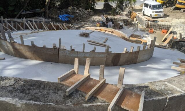 門中墓の改修工事④ S門中墓 豊見城市
