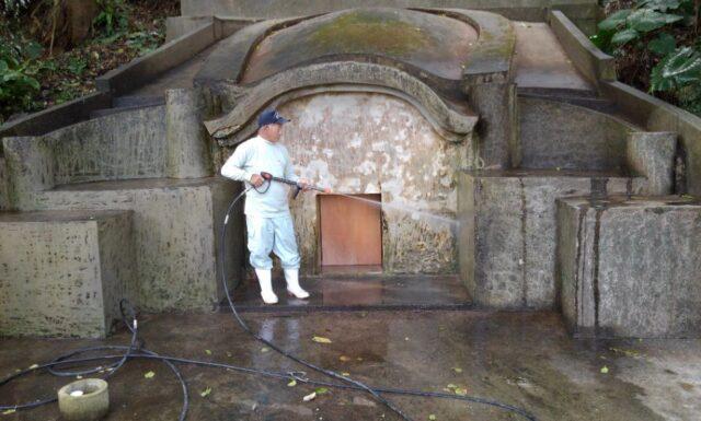 y家之墓改修工事開始 名護市