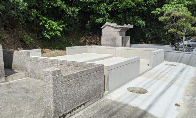 m家之墓の基礎工事 大宜味村